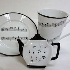 Ensemble le thé en musique en porcelaine de limoges