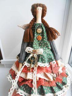 """Tilda Doll / Куклы Тильды ручной работы. Ярмарка Мастеров - ручная работа. Купить Тильда""""Лето в деревне"""". Handmade. Тёмно-зелёный, подарок женщине:"""