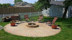 DIY Patio with Fire Pit