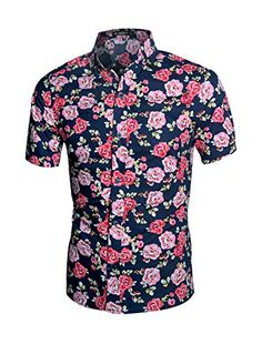 Allegra K Men Short Sleeve Button Down Floral Pattern Casual Shirts Multicolor L Slim Fit Floral Shirt Point Collar, Short Sleeves, Button Down Cotton Machine Wash Cold Model Body Size: Height: Bust: Waist: Hip: model is wearing a Small Plus Size Maxi Dresses, Short Sleeve Dresses, Short Sleeves, Casual Shirts For Men, Casual Button Down Shirts, Men Casual, Very Short Dress, Mens Hawaiian Shirts, Floral Print Shirt