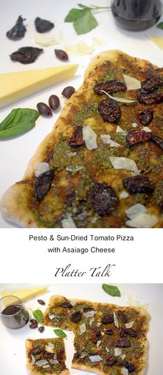 French Bread Pizza With Pesto & Sun-Dried Tomatoes Recipe — Dishmaps