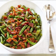 We wanted that same deep, sweet, smoky pork flavor of Southern-style green beans in minutes, not hours. So, naturally, we added bacon.