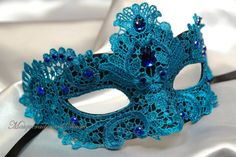 ... Lace Masquerade Mask- Venetian Mask Brocade Lace Masquerade Ball Mask