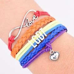 Infinity Love Bracelet 20% OFF all orders over $35! (ends 4/30/17)  lgbtprideapparel.com