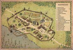 Fantasy City Map, Fantasy Town, Fantasy Places, Medieval Fantasy, Fantasy World, Fantasy Village, Construction Minecraft, Plan Ville, Village Map