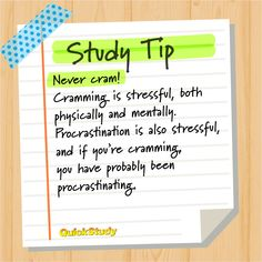 Cramming is stressful, both physically and mentally. Procrastination is also stressful, and if you're cramming, you have probably been procrastinating Study Tips For Students, School Study Tips, School Tips, Coffee Study, Used Textbooks, Reading At Home, Life Hacks For School, How To Start Homeschooling, Student Success