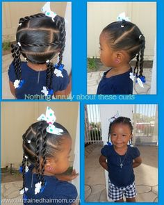 Little girls ponytails  hair for Jay  Pinterest  Protective