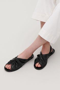 KNOTTED LEATHER SANDALS - Black - Shoes - COS US Black Shoes e0cd6d69c5d6