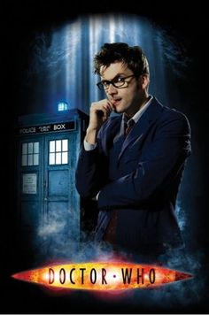 Doctor Who - TV Show Poster (The Doctor, The Tardis & Smoke) (David Tennant) (Size: 24'' x 36''):Amazon:Home & Kitchen