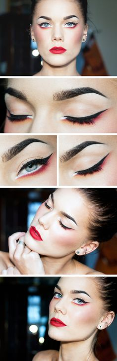The modern geisha - Linda Hallberg Beautiful runway makeup Love Makeup, Makeup Inspo, Makeup Art, Makeup Tips, Makeup Looks, Red Makeup, Daily Makeup, Makeup Blog, Makeup Products