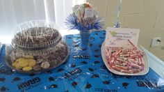 Candy Bucket design with School Mascot and Smarties candy!!   Follow me on IG & Facebook - R3P Events Decor