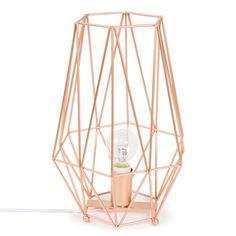 Lampe en métal H 29 cm ORIGAMI COPPER | Maisons du Monde