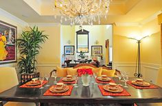 How to Use Feng Shui for a Better Dining Room - SP Home Design Yellow Dining Room, Dining Room Colors, Dining Room Design, Home Design, Feng Shui Dining Room, Rectangle Dining Table, Dining Lighting, Dining Room Inspiration, Best Dining