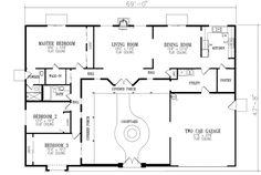 Proiecte de casa in forma de U intime