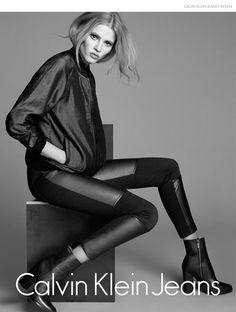 Lara Stone by Lachlan Bailey in Calvin Klein Jeans Fall 2014 Campaign Calvin  Klein Ads cd5698716e