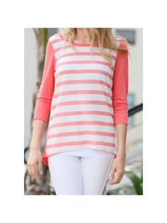 www.ewam.com Striped to Perfection Top, Coral