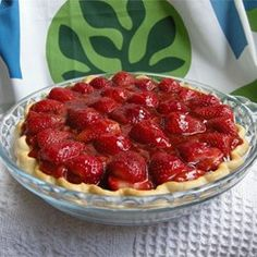 "Strawberry Pie II | ""The absolute best strawberry pie! Just the right amount of sweetness. Topped with homemade whipped cream; it was fabulous!!"""