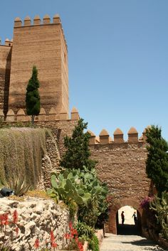 Alcazaba de Almeria,  Spain - The Alcazaba of Almería is a fortified complex in Almería, southern Spain. The word alcazaba, from the Arabic word al-qasbah, signifies a walled-fortification in a city.