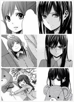 Citrus Manga Yuri Anime Girls Faces Glass
