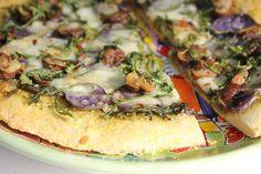 ... Pesto and Cashew Pizza | Recipe | Roasted Garlic, Pesto and Pizza