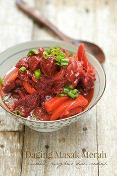 masam manis: Daging Masak Merah, mudah, ringkas dan sedap