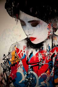 Gorgeous new siren mural by Hush