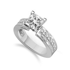 2.00 Cts Princess Cut Engagement Solitaire Ring In Solid 10K White Gold #Affinityhomeshopping #Solitaire