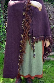 Finnish cloak with bronze wire decorations