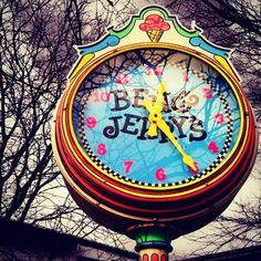 Time to make the ice cream at Ben & Jerry's