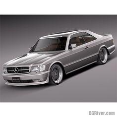Mercedes-Benz W126 560 SEC AMG 1991 - 3D Model