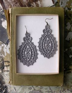 faina lace earrings by whiteowl