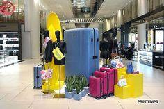 """LE PRINTEMPS, Paris, France, """"Tous LES INDISPENSABLES DE L'ÉTÉ à glisser dans votre valise (Rimowa)"""", (ALL ESSENTIAL SUMMER slip into your suitcase by Rimowa), pinned by Ton van der Veer"""