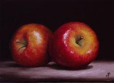 Braeburn Apples original fine art by Jane Palmer OIL