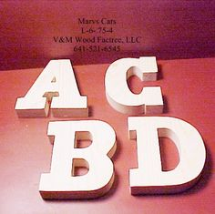 Unfinished Wooden Letters And Numbers 4 In. Tall X .75 In Thk Style 6