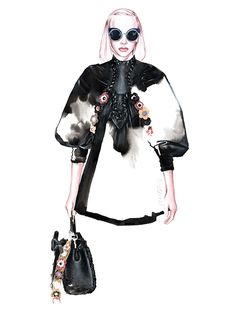 FENDI SS 2016 fashion illustration by António Soares