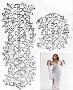 вязанные платья со схемами и описанием крючком для женщин: 22 тыс изображений найдено в Яндекс.Картинках