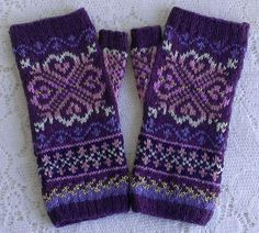 Ravelry: SweaterGoddess' Lunaria Mitts - Purple