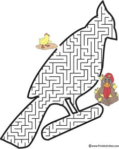 This bird shaped maze is a wonderful free printable worksheet for kids who love birds. Mazes For Kids Printable, Fun Worksheets For Kids, Free Printable Worksheets, Activities For Kids, Maze Worksheet, Mandala, Drawing Sketches, Coloring Pages, Stuff To Do