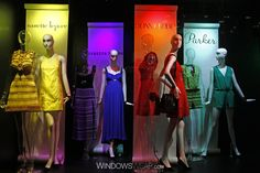 Bloomingdale`s Windows Turn Crayola Crayons into Couture