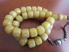 Amber Bakelite Faturan Catalin Prayer Beads Rosary Misbaha Antique   eBay