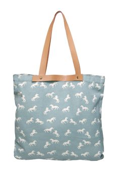 shopping bag blue horse www.abrile.com