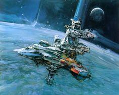 john berkey spaceship illustration-02
