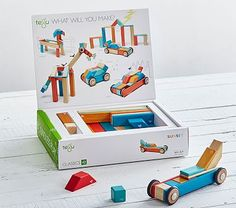 Magnetic Wooden 42- Piece Block Set #pbkids