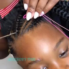 Black Kids Hairstyles, Baby Girl Hairstyles, Natural Hairstyles For Kids, Toddler Hairstyles, Kids Natural Hair, Little Girl Braid Hairstyles, Black Hairstyle, Easy Hairstyle, Little Girl Braids