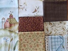 "Weeds N Tweeds for Red Rooster Fabric Quilt Fabric Kit Size 46"" x 46"" OOP"