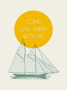 Come Sail With Me Canvas Wall Art - Wall Sticker Outlet