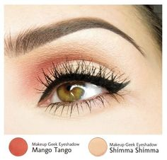 How to wear color at work: coral, or a deep peach eyeshadow, with natural shimmer can be office appropriate!