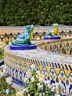 Fuente de las Ranas - fountain of the frogs in the María Luisa Park - Seville, Spain