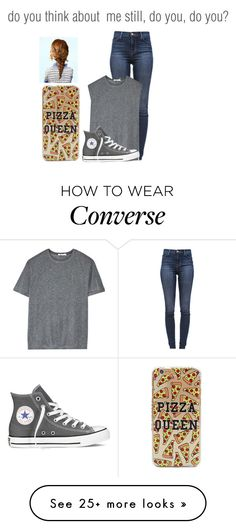 """""""do you think about me still¿"""" by wolfy-and-pll on Polyvore featuring J Brand, T By Alexander Wang and Converse"""