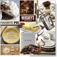 Favorite Pie * Chocolate by calamity-jane-always on Polyvore featuring interior, interiors, interior design, home, home decor, interior decorating, Garden Trading, KitchenAid, Hershey's and kitchen